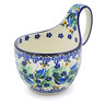 6-inch Stoneware Bowl with Handles - Polmedia Polish Pottery H3577J