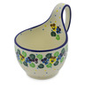 6-inch Stoneware Bowl with Handles - Polmedia Polish Pottery H3636K