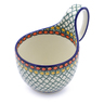 6-inch Stoneware Bowl with Handles - Polmedia Polish Pottery H3908I