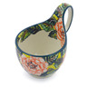 6-inch Stoneware Bowl with Handles - Polmedia Polish Pottery H3920I