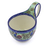 6-inch Stoneware Bowl with Handles - Polmedia Polish Pottery H3925I