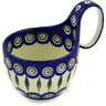 6-inch Stoneware Bowl with Handles - Polmedia Polish Pottery H3950D