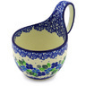 6-inch Stoneware Bowl with Handles - Polmedia Polish Pottery H4121E