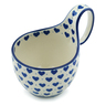 6-inch Stoneware Bowl with Handles - Polmedia Polish Pottery H4127I
