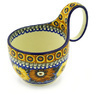 6-inch Stoneware Bowl with Handles - Polmedia Polish Pottery H6042F