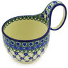 6-inch Stoneware Bowl with Handles - Polmedia Polish Pottery H6272F