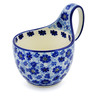 6-inch Stoneware Bowl with Handles - Polmedia Polish Pottery H6684D