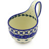 6-inch Stoneware Bowl with Handles - Polmedia Polish Pottery H7631E