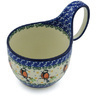 6-inch Stoneware Bowl with Handles - Polmedia Polish Pottery H7739G