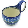 6-inch Stoneware Bowl with Handles - Polmedia Polish Pottery H8048G