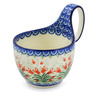 6-inch Stoneware Bowl with Handles - Polmedia Polish Pottery H8922D