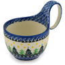 6-inch Stoneware Bowl with Handles - Polmedia Polish Pottery H9303C