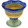 6-inch Stoneware Bowl with Pedestal - Polmedia Polish Pottery H2802D