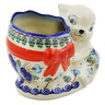 6-inch Stoneware Bunny Shaped Jar - Polmedia Polish Pottery H4570K