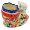 6-inch Stoneware Bunny Shaped Jar - Polmedia Polish Pottery H5099K
