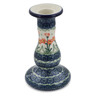 6-inch Stoneware Candle Holder - Polmedia Polish Pottery H2898B