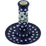6-inch Stoneware Candle Holder - Polmedia Polish Pottery H9431G