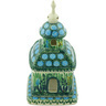 6-inch Stoneware Chapel Candle Holder - Polmedia Polish Pottery H3743G