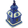 6-inch Stoneware Chapel Candle Holder - Polmedia Polish Pottery H4680G
