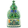 6-inch Stoneware Chapel Candle Holder - Polmedia Polish Pottery H4989G