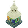 6-inch Stoneware Chapel Candle Holder - Polmedia Polish Pottery H5130G