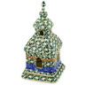 6-inch Stoneware Chapel Candle Holder - Polmedia Polish Pottery H7803C