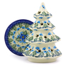 6-inch Stoneware Christmas Tree Candle Holder - Polmedia Polish Pottery H0787I