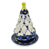 6-inch Stoneware Christmas Tree Candle Holder - Polmedia Polish Pottery H1430F