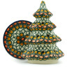 6-inch Stoneware Christmas Tree Candle Holder - Polmedia Polish Pottery H2822H