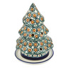 6-inch Stoneware Christmas Tree Candle Holder - Polmedia Polish Pottery H4257I