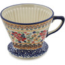 6-inch Stoneware Coffee Filter Holder - Polmedia Polish Pottery H7879K