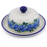 6-inch Stoneware Dish with Cover - Polmedia Polish Pottery H1202J