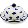 6-inch Stoneware Dish with Cover - Polmedia Polish Pottery H7120B