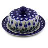6-inch Stoneware Dish with Cover - Polmedia Polish Pottery H7195I