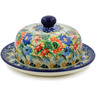 6-inch Stoneware Dish with Cover - Polmedia Polish Pottery H7865J