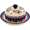 6-inch Stoneware Dish with Cover - Polmedia Polish Pottery H7870J