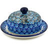 6-inch Stoneware Dish with Cover - Polmedia Polish Pottery H7873J