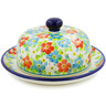 6-inch Stoneware Dish with Cover - Polmedia Polish Pottery H7874J
