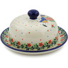 6-inch Stoneware Dish with Cover - Polmedia Polish Pottery H7877J