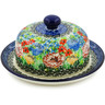 6-inch Stoneware Dish with Cover - Polmedia Polish Pottery H7879J