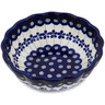 6-inch Stoneware Fluted Bowl - Polmedia Polish Pottery H1314L