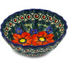 6-inch Stoneware Fluted Bowl - Polmedia Polish Pottery H7593D