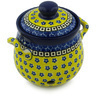 6-inch Stoneware Garlic and Onion Jar - Polmedia Polish Pottery H1799H