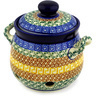 6-inch Stoneware Garlic and Onion Jar - Polmedia Polish Pottery H1977D