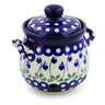 6-inch Stoneware Garlic and Onion Jar - Polmedia Polish Pottery H4028A