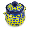 6-inch Stoneware Garlic and Onion Jar - Polmedia Polish Pottery H6392B