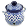 6-inch Stoneware Garlic and Onion Jar - Polmedia Polish Pottery H8854K