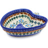 6-inch Stoneware Heart Shaped Bowl - Polmedia Polish Pottery H0548K