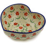 6-inch Stoneware Heart Shaped Bowl - Polmedia Polish Pottery H2577K