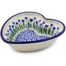6-inch Stoneware Heart Shaped Bowl - Polmedia Polish Pottery H2636B